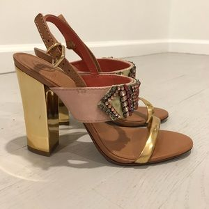 Tory Burch jeweled evening sandals new rhinestone